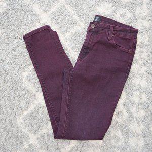 Just Black Burgundy / Purple Skinny Jeans